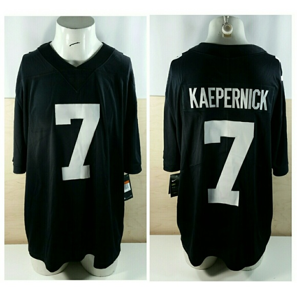 best service 1be9e c3942 Nike Colin Kaepernick Black White Football Jersey NWT